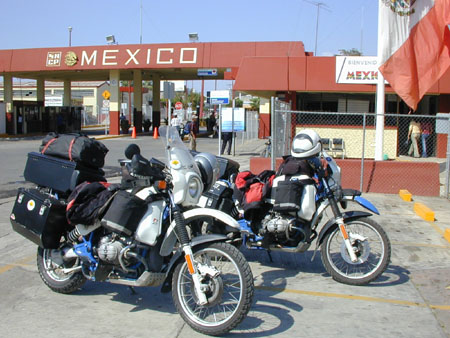 Crossing the border to Mexico